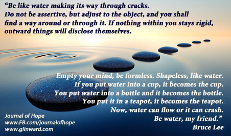 Be Like Watera Quote By Bruce Lee Journal Of Hope